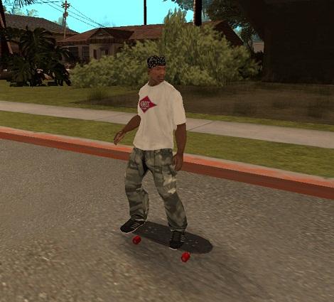 скейт в gta san andreas