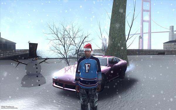 Зима в GTA San Andreas без кодов!
